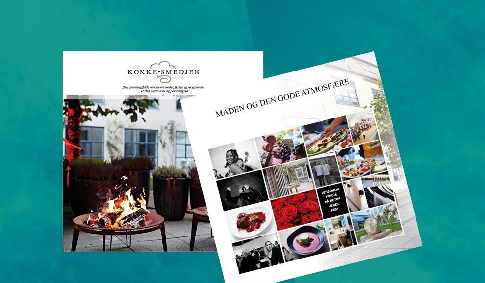Case, Klæbel-grafisk design, brochure til Kokkesmedjen.