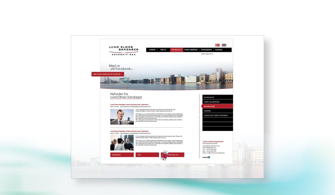 Case, klæbel-design - Hjemmeside idé