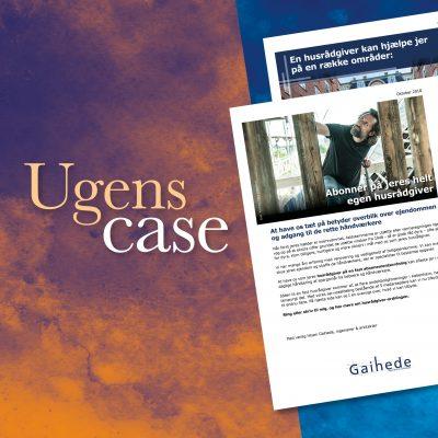 Case. Design og opsætning af salgsbrev